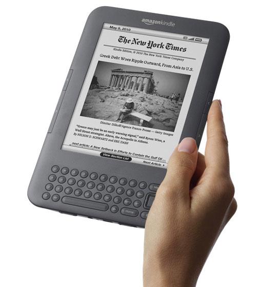 Jak se čte na Amazon Kindle 3?