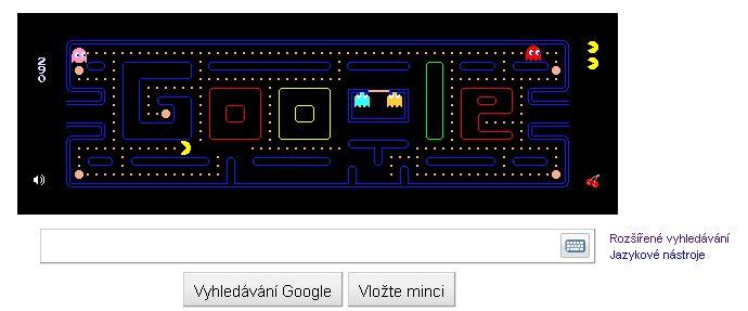 Nové Google logo - hra Pac Man