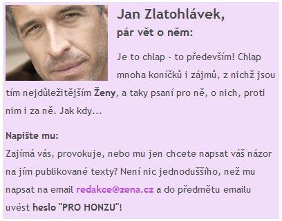 Profil autora Jan Zlatohlávek u článků na webu Žena.cz