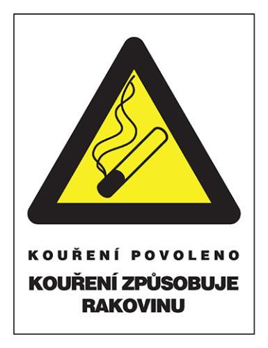 Označení pro restaurace kde je povolené kouření (kuřácké restaurace a bary)