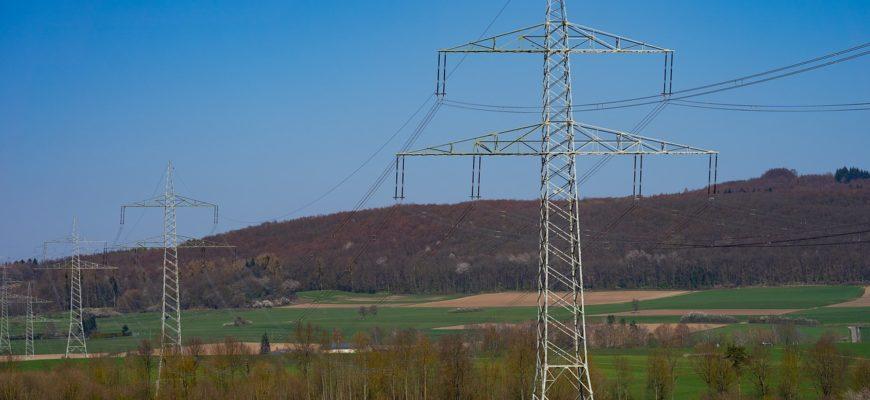 Landscape Power Line Power Poles
