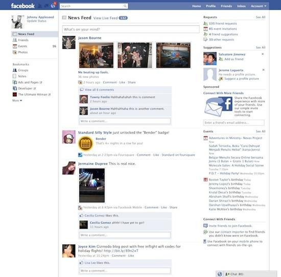 Nový vzhled facebook.com
