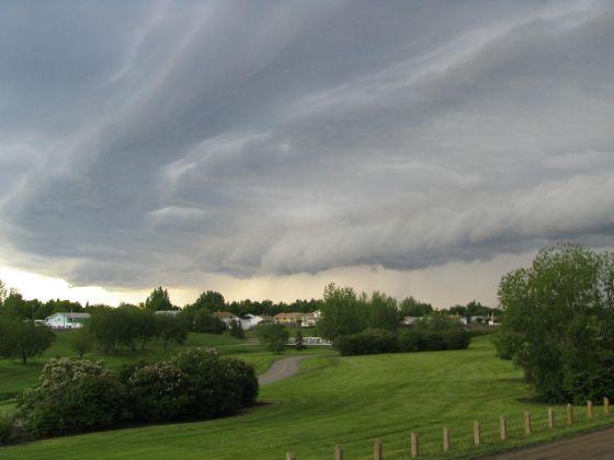 Oblačné počasí v červnu