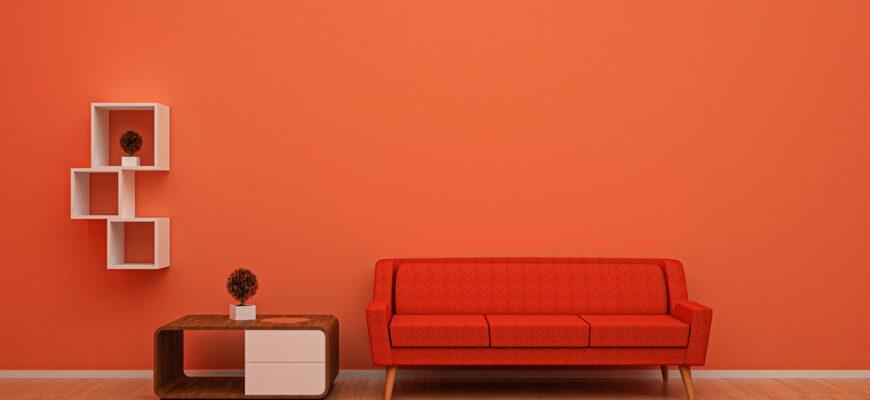Sofa Orange Cushion Furniture Sofa  - CAMACHO03 / Pixabay
